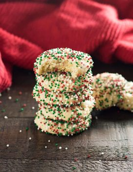 Sprinkle Cookies for Christmas